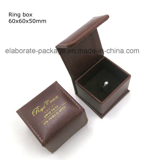 Handmade Antique Luxury PU Jewelry Gift Box Brown Leather Gift Packing Box pictures & photos