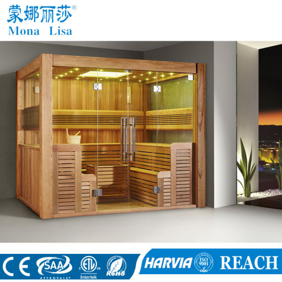 Multi-User Type Luxury 8-10 People Wooden Sauna Room (M-6046)