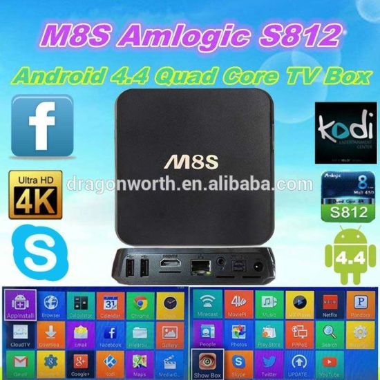 China Manufacturer Original M8s 2g ROM, H. 265 4k Amlogic S812 Android TV Box Kodi 15.1 Better Than M8 Ott TV Box pictures & photos