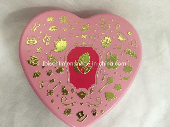 High Quality Wedding Favour Gift Tin Wholesale Heart Shape Chocolate Box