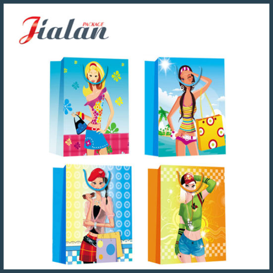 Fashion Lady's Summer Dress Packing Shopping Carrier Gift Paper Bag