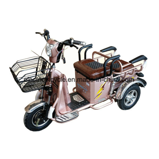 Three Wheel Electric Motorized Trikes Tricycle Bike for Adults with Basket pictures & photos