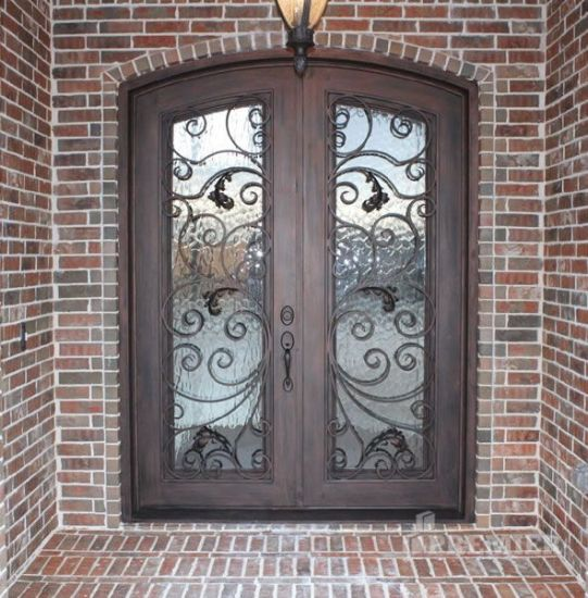 Wrought Iron Front Entry Door Direct From China Factory Uid D136