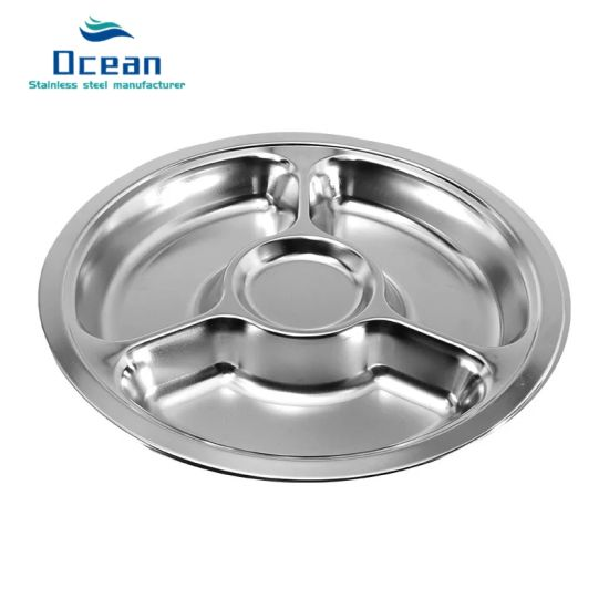 201 Stainless Steel Round Shape Food Tray /School Deep Dinner Plates  sc 1 st  Oucheng Stainless Steel Products Factory & China 201 Stainless Steel Round Shape Food Tray /School Deep Dinner ...