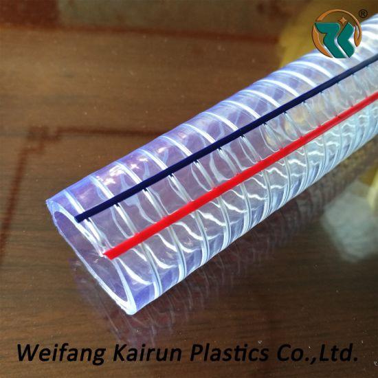 Wholesale PVC Steel Wire Flexible Reinforced Pipe Tube Hose Water Hose