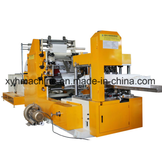 Napkin Machine Glue Lamination Automatic 1/8, 1/4-Folded Automatic Color Printing Embossing Serviette Napkin Tissue Paper Machine with High Speed