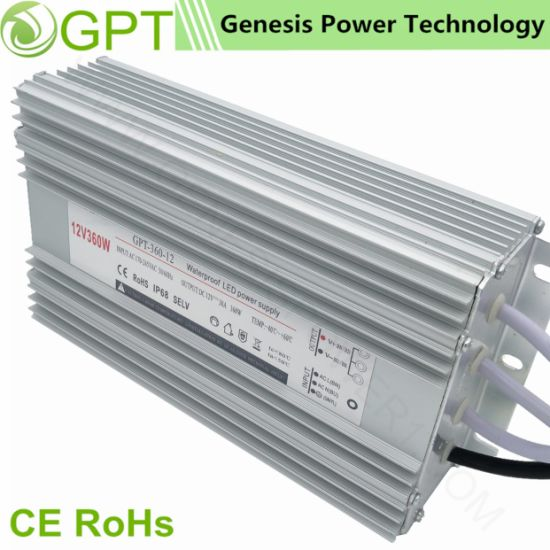 24V 15A LED Lighting Switching Waterproof Power Supply Transformer, LED Driver SMPS AC/DC Transformer pictures & photos
