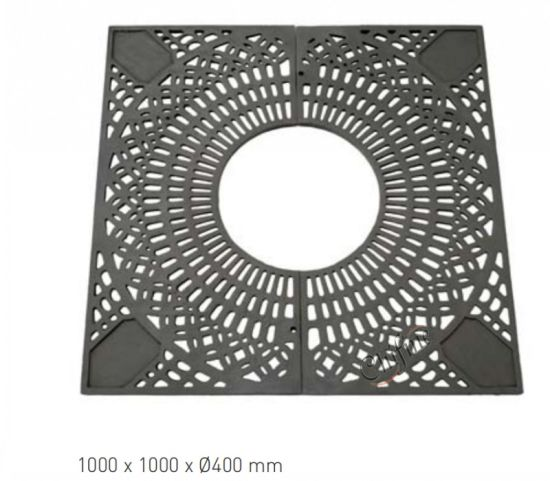 China Custom Oem Cast Iron Tree Grate By Sand Cast Process China Grating Steel Grating