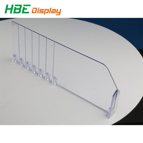 Customized Adjustable Plastic Transparent Shelf Breakable Dividers for Cigarette pictures & photos