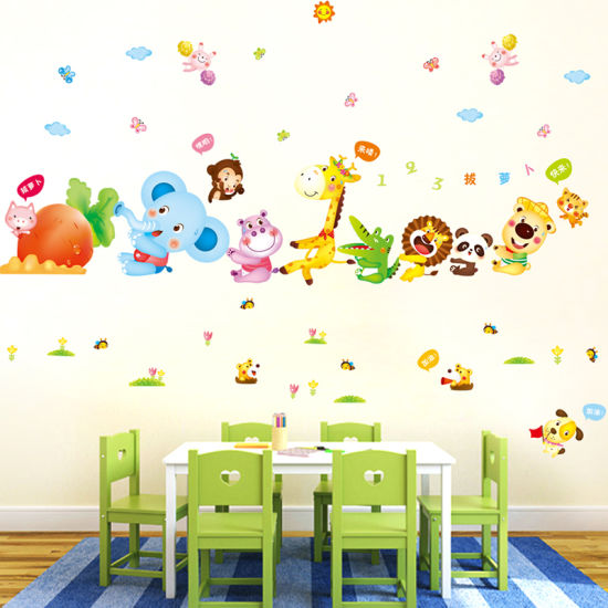 china pvc cartoon wall sticker kids room nursery school - china wall