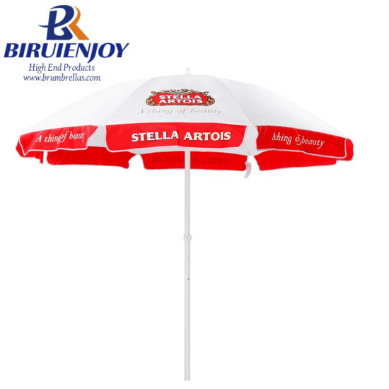Custom Strong Outdoor Commercial Parasol with Logo Printed Cheap Cost for Advertising