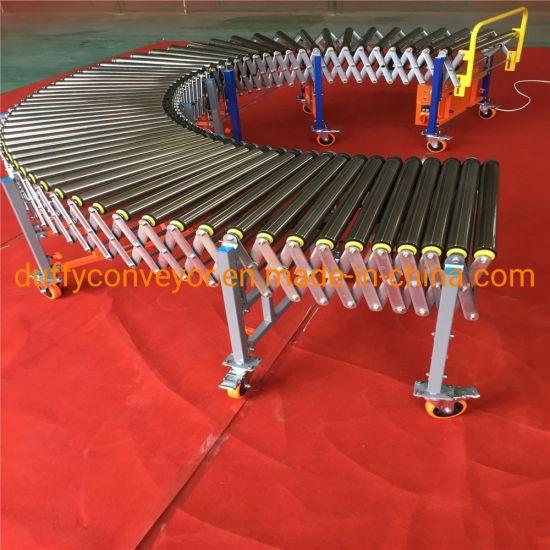 Electric Power Belt Roller Conveyor in Conveyor System