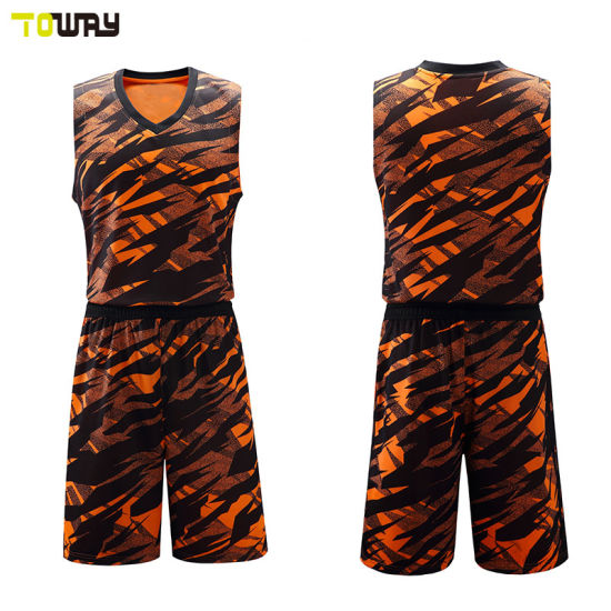 bf39fdc9fcb 2018 New Camo Design Basketball Uniform Set - China Basketball ...