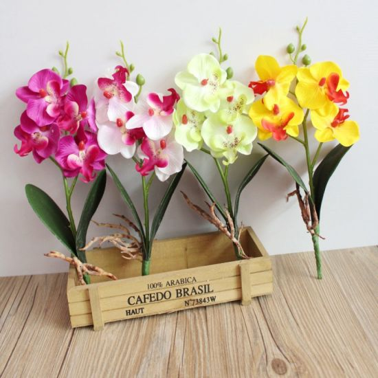 China home decoration mini four flower phalaenopsis silk flower home decoration mini four flower phalaenopsis silk flower artificial flower mightylinksfo
