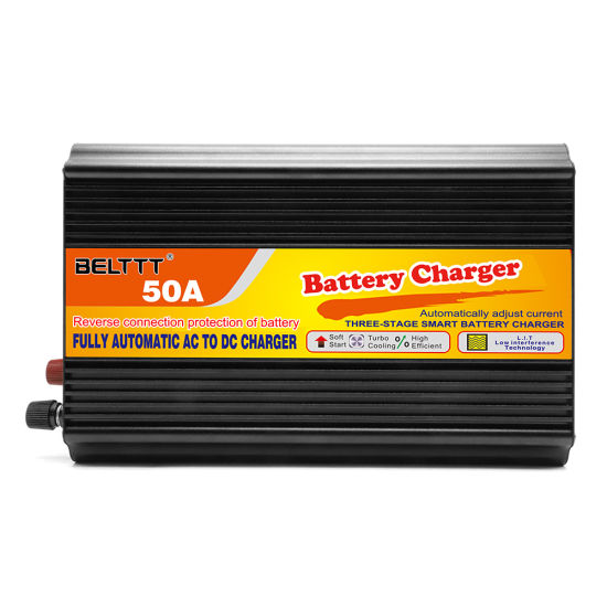 Three Stage Fast Charging 12V 50A Smart Car Storage Battery Charger