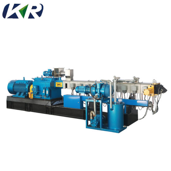 Co-Rotating Parallel Plastic Twin Screw Pelletizing Machine pictures & photos