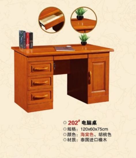 Top Quality Solid Wood Writing Desk, Computer Desk with Chair