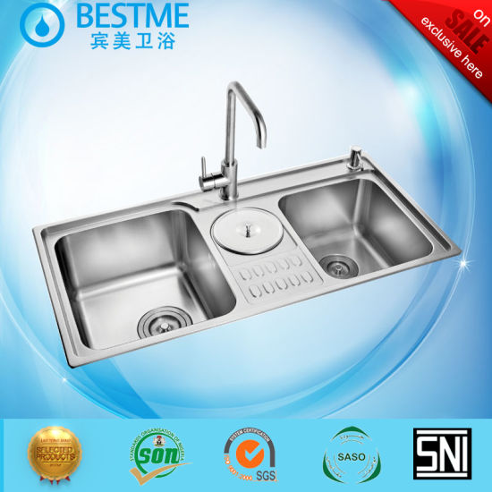 China Best Price Ss201 Stainless Steel Double Bowl Kitchen ...