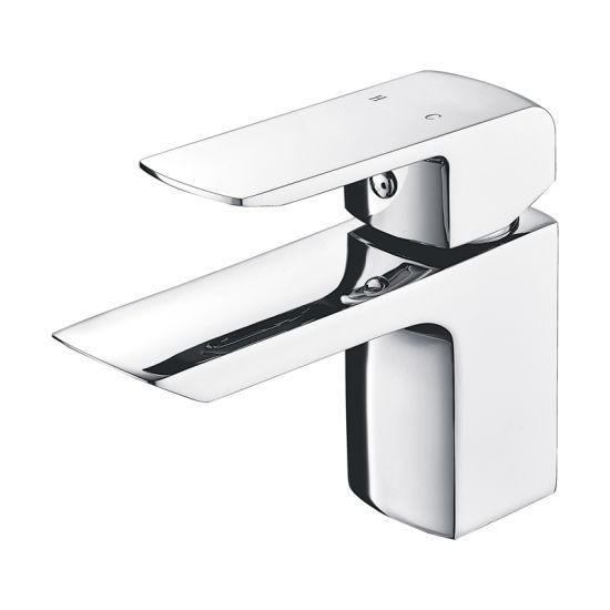 Luolin Bathroom Basin Faucet Sink Tap Lead Free Brass Hand Wash Lavatory Vanity, Chrome 577-8