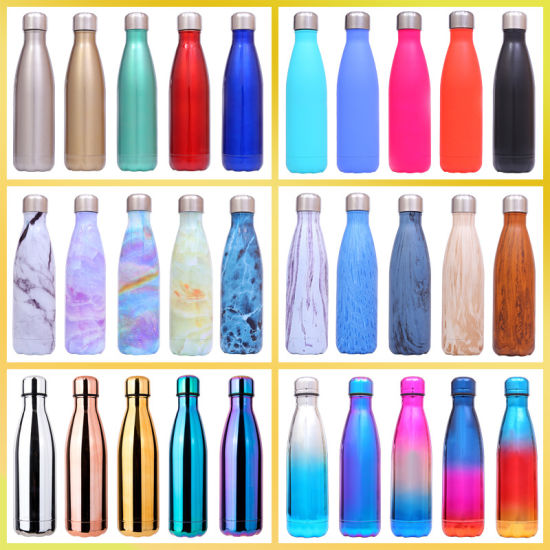 Stainless Steel Glass Bottle Sport Water Bottle Insulated Water Bottle with Customized Logo