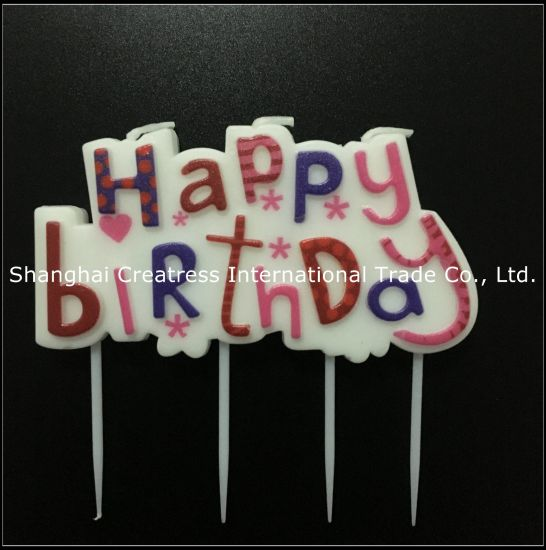 Fine China Excellent Design Paraffin Wax Party Use Pink Letter Candles Personalised Birthday Cards Veneteletsinfo