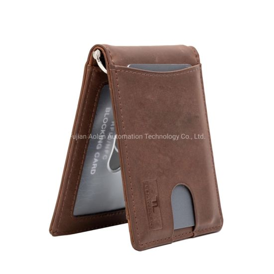 Money clip wallet Front Pocket Wallet Minimalist wallet Card Wallet