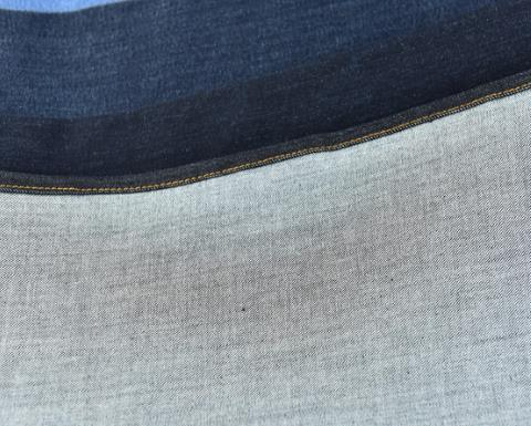 100% Cotton Textile Denim Fabric Warp Jeans Textiles White Woven