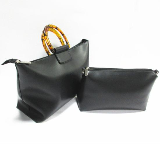 Wholesale Market PU Leather Woman Replica Luxury Handbags Luggage Textile Lady Tote Bag 3086-1