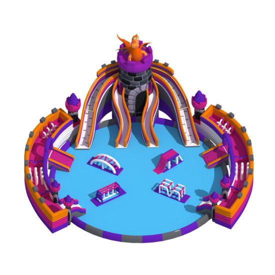 Cheer Amusement Inflatable Water Slip N Slide Castle Themed Inflatable Water Park