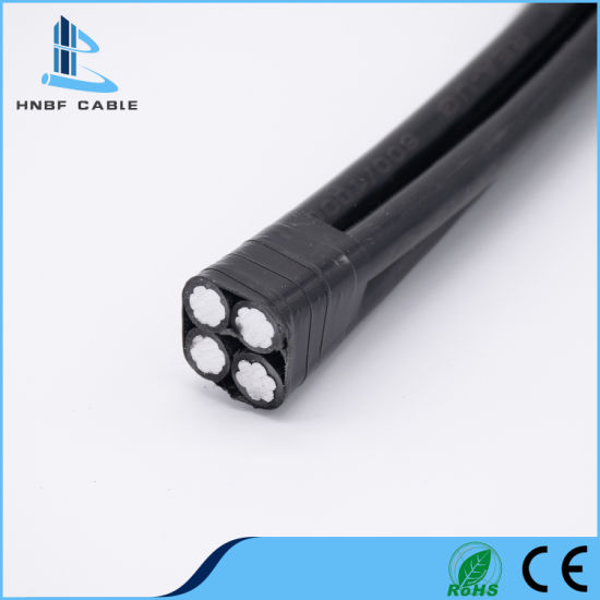 Copper/Aluminum Conductor PE/XLPE/PVC Insulation Electric Power Twisted Overhead Service Drop ABC Cable