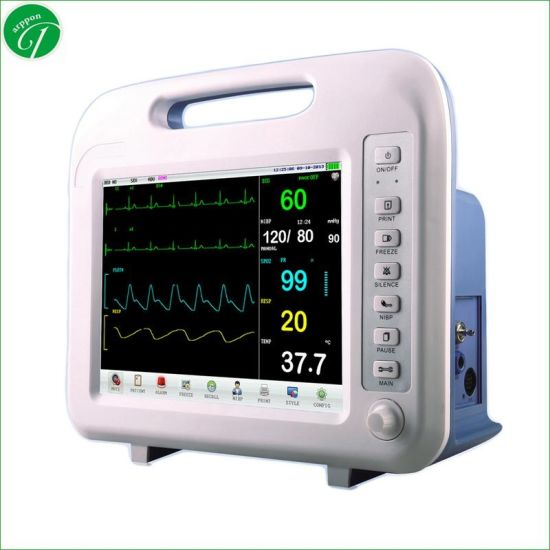 High Quality Portable Beside Multi-Parameter Patient Monitor in Medical Diagnosis Equipment