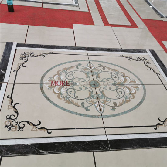 Stone Inlay Waterjet Marble Floor