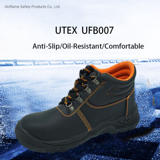 PU Sole En Genuine Leather Industrial Industry Steel Toe Safety Work Shoes for Men Sbp/S1/S3