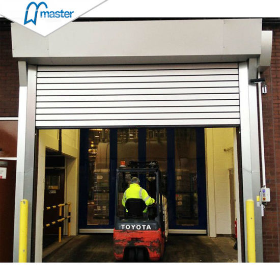 Turbine Wind Proof Aluminum Alloy Spiral High Speed Hard Fast Rolling Doors