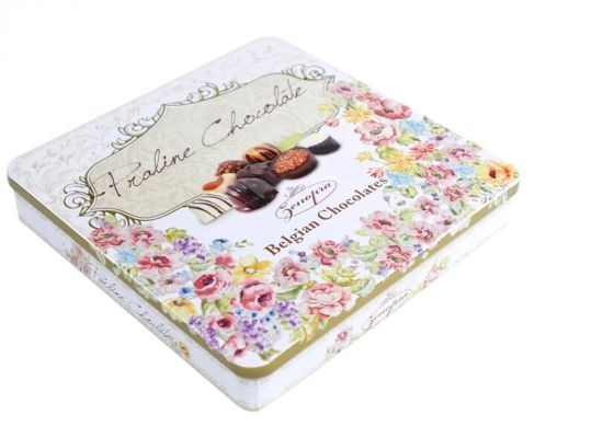 Custom Printed Embossed Metal Chocolate Tin Box Chocolate Packaging Box