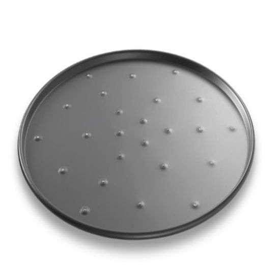 New Design Cookware Anodized Aluminum Round Perforated Pizza Pan