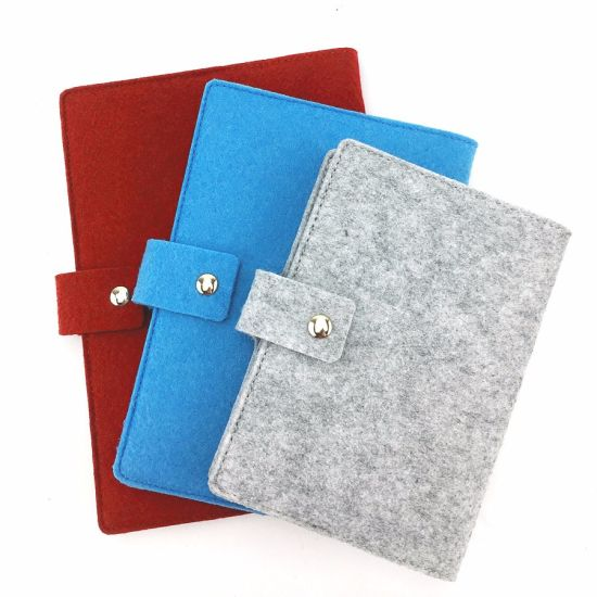A5 Colorful with Button Felt Notebook