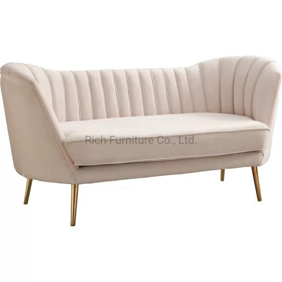 Modern Luxury Leisure Living Room Hotel Office Fabric Sofa Fabric Upholstery Sofa 3 Seat