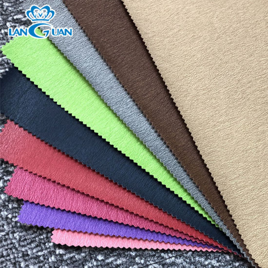 Multi-Color PU Synthetic Leather Fabric for Car Furniture Bags