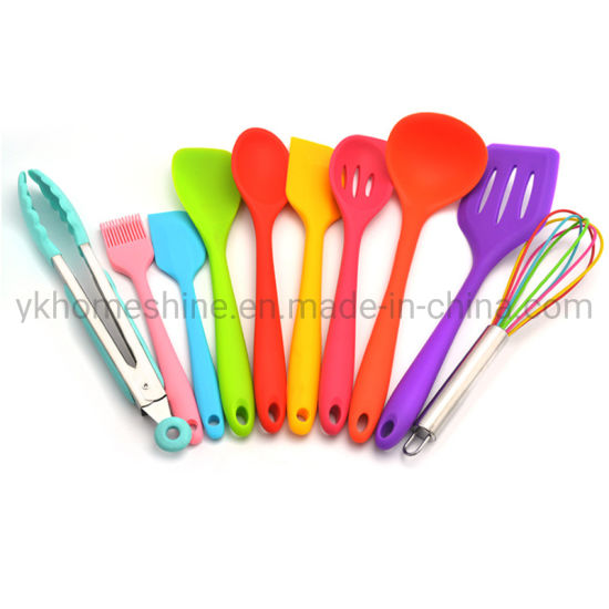 Heat Resistant Non-Stick Silicone Cooking Kitchen Utensils with Different Colors