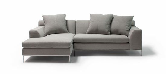Minimalist Grey Linen Fabric Simple Sectional Couch - China ...