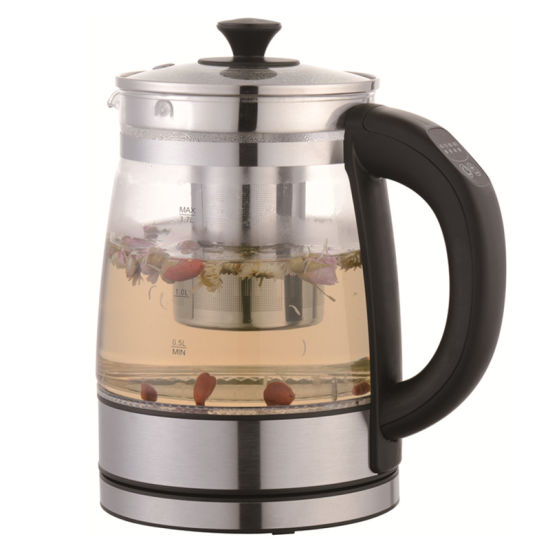 1.7 Liter Keep Warm Cordless Electric Glass Kettle with Tea Filter
