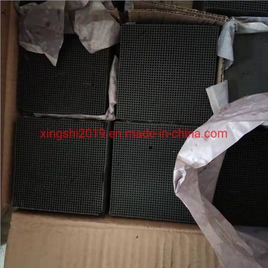 Factory Hot-Selling 100cpsi 100*100*100mm Impregnated Honeycomb Activated Carbon Special for Formaldehyde Removal