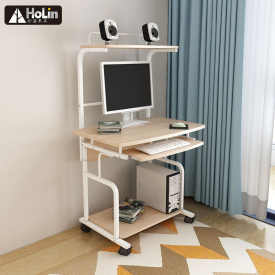 Space Saving Pc Steel Wooden Gaming Desk Computer Table Workstation Home Office School Use Furniture Oak Color China Workstation Desk Computer Table Made In China Com
