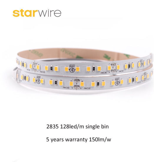 High Quality Waterproof 8 LED Per Cut 24V 128LED/M Light SMD 2835 LED Strip with 150lm/W pictures & photos