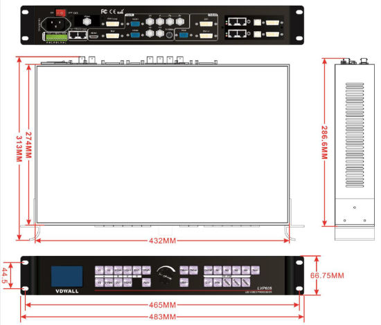 Lvp605 Updated LED HD Video Processor Lvp615D for Indoor and Outdoor Rental LED Screen pictures & photos