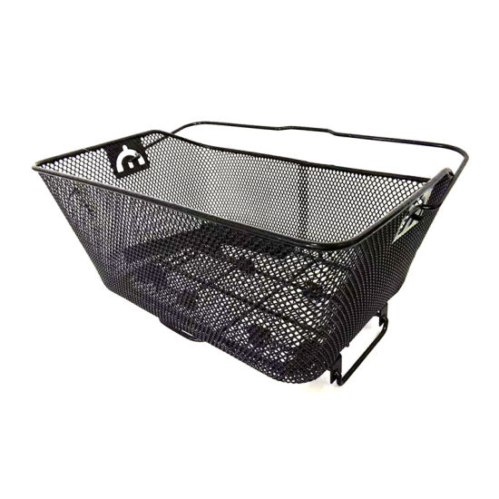Popular Rear Steel Mesh Bicycle Basket with Handle of Bicycle Parts