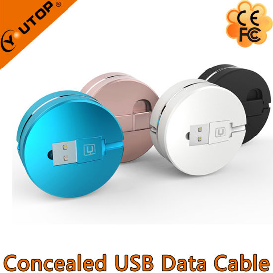 Concealed USB Data Cable for iPhone and Android pictures & photos