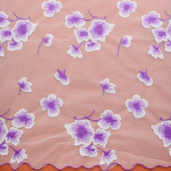 China Embroidery Cloth Material Fabric Lace Fabric For Wedding Dress