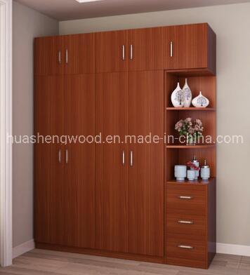 China Hot Sale Environmentally Friendly Modern Design Wood Clothes Wardrobe